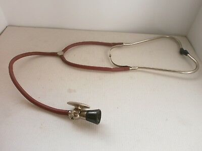 WWII ANTIQUE VINTAGE  STETHOSCOPE BAKELITE and RUBBER MEDICAL BINAURAL DOCTOR
