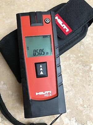 Hilti PD-4 Laser Measure with case and belt loop. Never used, great condition