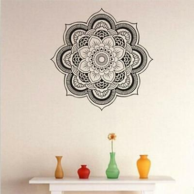 Wall Decal Lotus Flower Yoga Indian Mandala Vinyl Sticker Art Decor MA