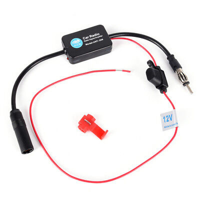 Car Stereo FM&AM Radio Signal Antenna Aerial Signal Amp Amplifier Booster FO