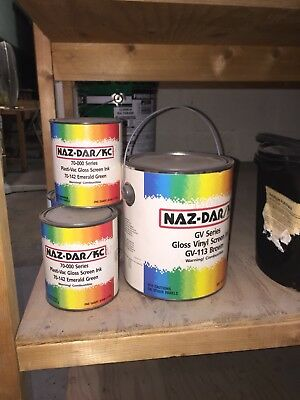 Nazdar Screen  Inks Approx 66 Quarts And 3 Gallons