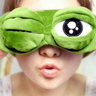 Frog Sad 3D Eye Mask Cover Sleeping Rest Sleep Anime Funny MA