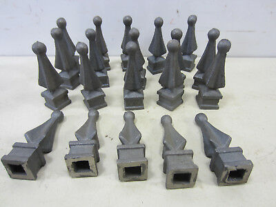 20 Vintage Reproduction? Cast Iron Fence Finial Toppers #1
