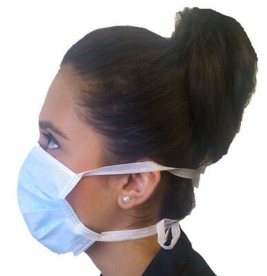 50  F2 Medical 50 Quality Lab Examination Masks & Ties Ideal For Dentists or Vet
