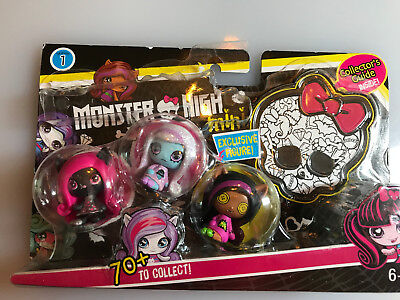 Monster High Minis Season 1 3 pack Pack #2 w/ Collectors Guide & Rare Clawdeen