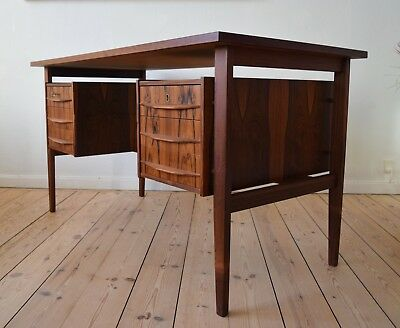 Mid-Century Danish Floating Brazilian Rosewood Desk, 1960s.