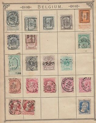 MK157  VERY OLD BELGIUM STAMPS FROM LINCOLN 13th EDITION ALBUM
