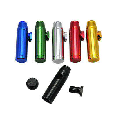 Multi Color Metal Flat Bullet Rocket Snuff Snorter Sniffer Flat Mouth Tips Snuff
