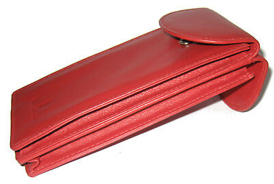 Double Spectacle Glasses Case Holder Popper Fastening RED - 771