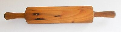 """Vintage Rolling Pin Solid Wood 15"""" One Piece Country Kitchen Decor"""