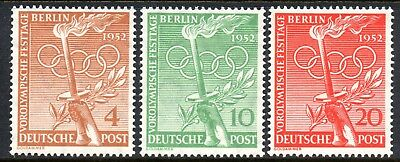 Berlin 1952 Olympic Games set of 3 Mint Unhinged