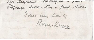 Roger Keyes - Admiral of the Fleet - Boxer Rebellion,  Dardanelles Campaign- sig