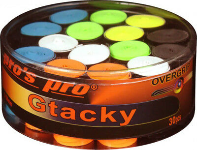Pro's Pro GTacky Tennis Racket Overgrips Badminton Squash - Box of 30 - Assorted