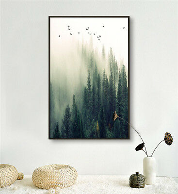 Prints on Canvas Abstract Smoky Mountains HD Wall Home Decor 24x36inch/Frameless