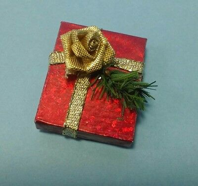 Dollhouse Miniature Christmas Stocking in Red /& Gold Dot Fabric ~ BB90011