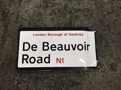 Genuine Original LONDON Street Road Sign - De Beauvoir Rd N1