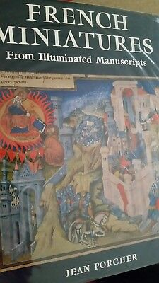 Large Book - French Miniatures - Illuminated Manuscripts by Jean Porcher