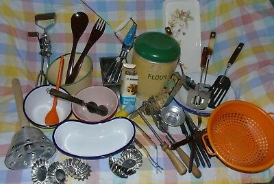 Various Items Vintage Kitchenalia Tala Skyline Nutbrown Prestige Enamel