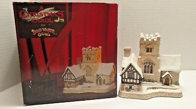 David Winter Cottages 1989 A CHRISTMAS CAROL John Hine Limited Britain Sculpture