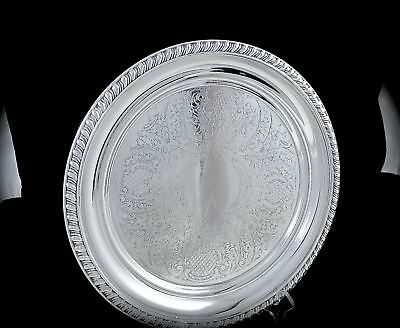 Vintage LIPMAN LEVINTER CANADA Silverplate ROUND FOOTED TRAY