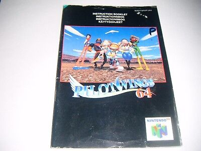 Original N64 Manual (Pilotwings 64) All Pages Complete