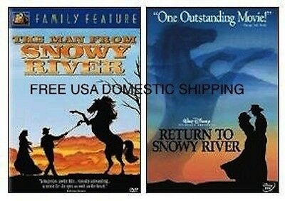 The Man From And Return To Snowy River - New 2 Dvd Set Free Shipping
