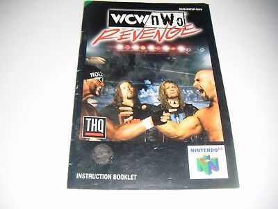 Original N64 Manual (Wcw Nwo Revenge) All Pages Complete