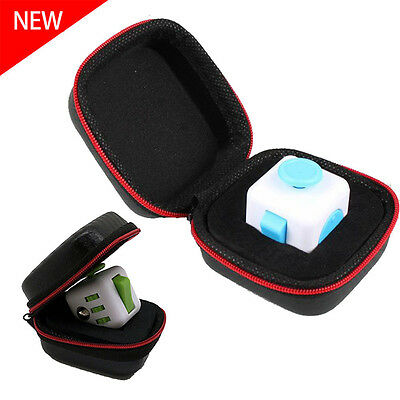 Fidget Cube Anxiety Stress Relief Focus Dice Bag Box Carry Case Packet Gift A