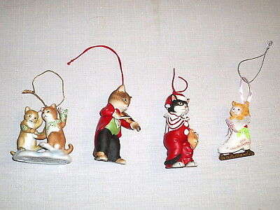 Group Lot of 4 Kitten Cat Christmas Ornaments Schmid + Roman Inc.