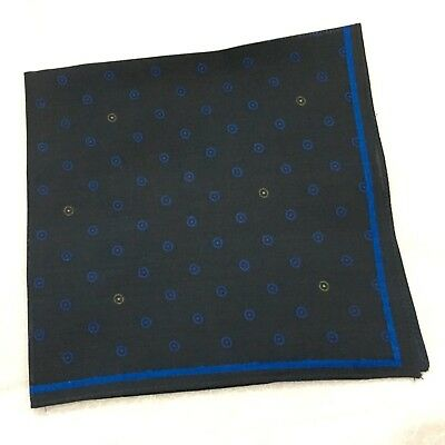 Mens Blue Pocket Square JOHN LEWIS Cotton NAVY ROYAL BLUE Spotted Handkerchief