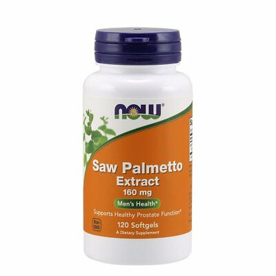 NOW FOODS, SAW PALMETTO EXTRACT, Sägepalme 160mg 120 Weichkapseln SUPER PREIS