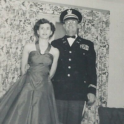 Vintage Photograph 1940s World War 2 Solder US Army with Bride