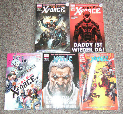 Cable und X-Force Nr. 1 - 5  (Panini 2013/2014)