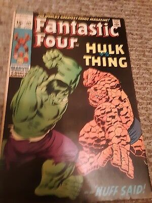 old marvel comic book fantastic four hulk vs thing july issue 112