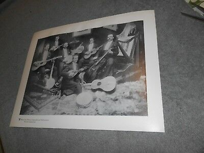 Vintage - Print - Canal Fulton Ohio - Musicians From Opera House