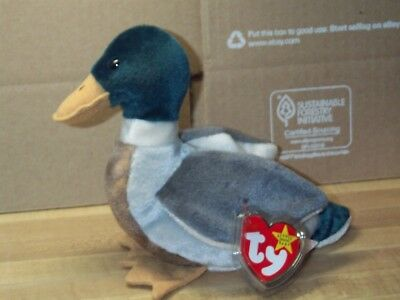 "TY beanie baby babies Jake Mallard Duck 4-16-1997 Easter Duck retired 5"" tall"