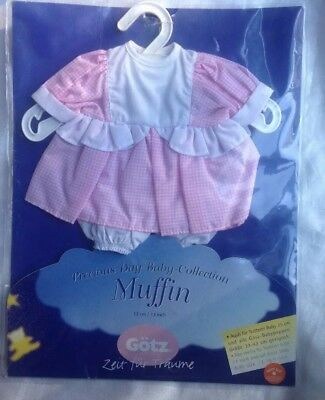 """Goetz Dolls 13"""" Baby Doll Soft Body Muffin Precious Day Collection Pink Outfit"""
