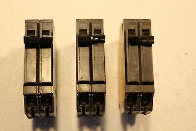 Lot Of 3 GE THQP230  Double Pole 30 Amp Circuit Breaker....Broken Toggle Knobs