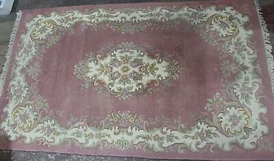 Persian Style Traditional Floor Rug, Pink, Home Office Decor (5ft x 8ft)-250
