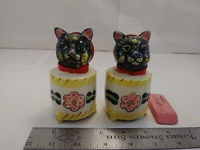 Vintage Kitty Cat Washing Machine Japan Salt And Pepper Shakers