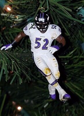 ray LEWIS baltimore RAVENS football xmas NFL ornament HOLIDAY jersey afc vtg #52