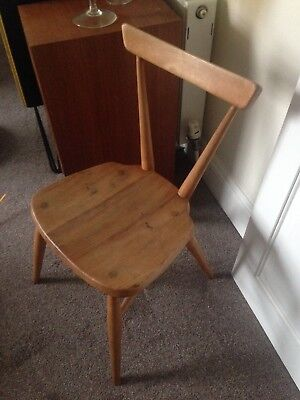 Blonde ercol elm mid century Vintage small Stacking Chair