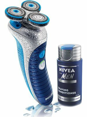 Philips Mens Nivea Conditioning Shaving System Rechargeable Shaver HS8020