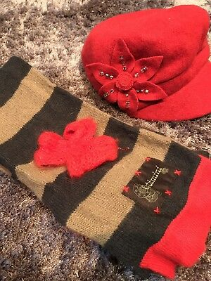 Girls Catimini Scarf And Next Hat Aged 7-10 Years