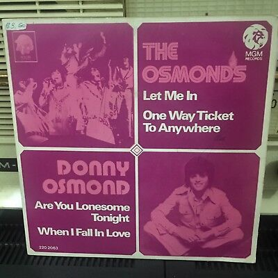 Rare DONNY OSMOND and THE OSMONDS 70s Malaysia MGM EP 45s Singapore