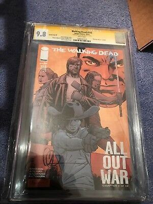 Walking Dead #115 Variant M Signed CGC 9.8.