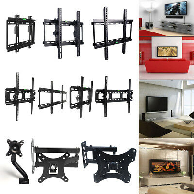 "LCD LED TV Wall Mount Stand Plasma Flat Tilt Swivel Bracket For 10-70 "" Inch US"