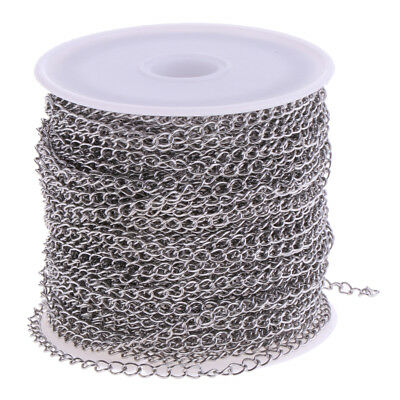 1 Roll Silver Stainless Steel Cable Chains for Crafting DIY Jewelry Making