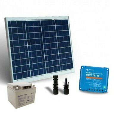 Solar Kit 50W 12V Pro2 SR Panel Charge Controller 10A MPPT AGM Battery 25Ah