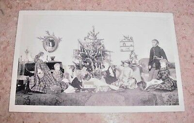 Vintage Postcard Tasha Tudor's Old Fashioned Dolls The Christmas Party Opening